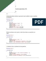 Algoritmos e Programação - Exercicios
