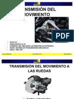 TRANSMISIÓN DEL MOVIMIENTO