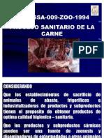 NOM-Proceso Sanitario de La Carne