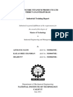 Travancore Titanium Products Industrial Training report