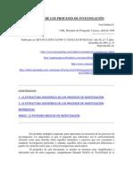 Padrón, La Estructura de los Procesos de Investigación