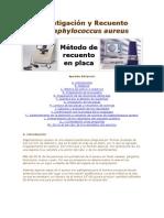 Investigación y Recuento de staphylococcus aureus