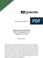 IMPACTO DE LA PRIVATIZACIÓN BID
