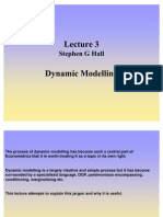 Lecture 3 Dynamic Modelling