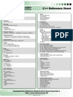 Cpp Reference Sheet