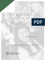 Anexo Folio 40.- Norma de Educación Profesional Continua para 2011 Modificaciones