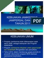 Materi Jamkesmas Jampersal, Bok 2011