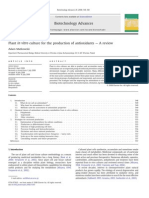 Plant in vitro culture for the production of antioxidants — A review