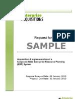 Request for Proposal RFP SAMPLE EnterpriseAcquisitions[1]