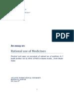 Rational Use of Medicine Pratical Work Paper