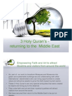 HolyQurans-Returning to Middle East
