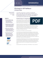 a Power Exchange for for SAP NetWeaver