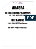 Embedded Project Abstracts IEEE 2009 2010 Final Year Projects