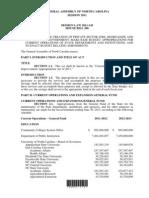 H200v9 2011-2012 Budget for North carolina