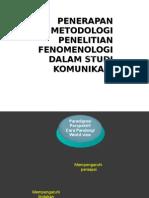Paradigma Penelitian Kualitatif Fenomenologi