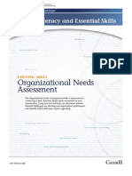 Organizational Needs Assesment