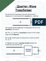 The Quarter Wave Transformer