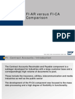 SAP Comparison of FI-AR vs FI-CA