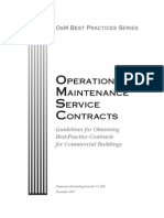 Operation and Maintenance Service Contracts
