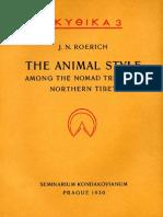 J.N.Roerich (Ю.Н.Рерих) - Animal style (Звериный стиль) - 1930