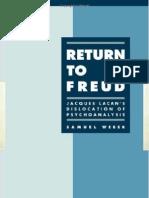 Return to Freud by Samuel Weber