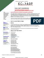 Eloectrical Unit Conversion