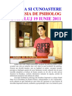 Stiinta Si Cunoastere – Profesia De Psiholog - Promo