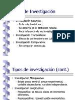 Observacin y Tipos de Investigacin
