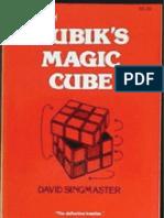 Notes On Rubik S Magic Cube