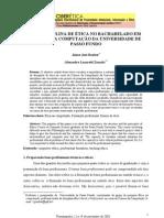 ARTIGO - A DISCIPLINA DE ÉTICA NO BACHARELADO EM CIÊNCIA DA COMPUTAÇÃO DA UNIVERSIDADE DE PASSO FUNDO