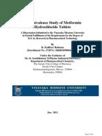 Bioavailability Study of Metformin