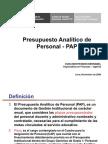 Presupuesto Analitico de Personal 2009