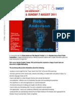 Super Short and Sweet Film Workshop