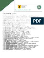 Lista de Revista de HINARI 2010