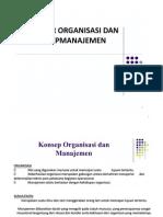 Organisasi Dan Manajemen