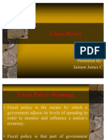 Fiscal Policy- Jaimon James