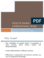 Role of Banks in International Trade IMRAN ACA