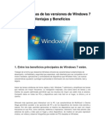 Características de las versiones de Windows 7