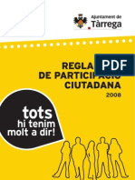 Reglament participació ciutadana Tàrrega