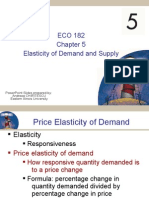 ECO 182 (Micro) Ch 05 Elasticity of Demand and Supply