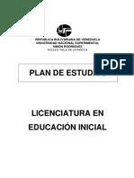 PENSUM L Educacion Inicial