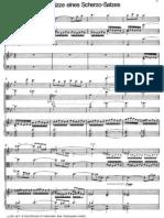 Mahler Klavierquartett Scherzo Skizze