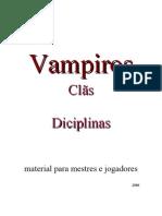Vampiro a Marcara Clas e Disciplinas