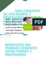 El Trabajo Conjunto de Los Padres y Profesores