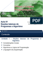 Aula 01 - PROG.I (Prof. MSc. Flvio Barros)
