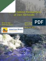 Graber - Applied Habitat Management at Dam Removals
