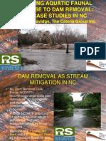 Savidge - Lowell Mill and Carbonton Dam Removals