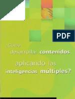 Cómo desarrollar contenidos aplicando las inteligencias múltiples
