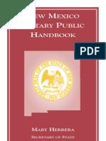 NM Notary Public Handbook - 2007