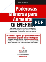 20 Maneras Aumentar Energia [Leo Alcala] Reporter Especial